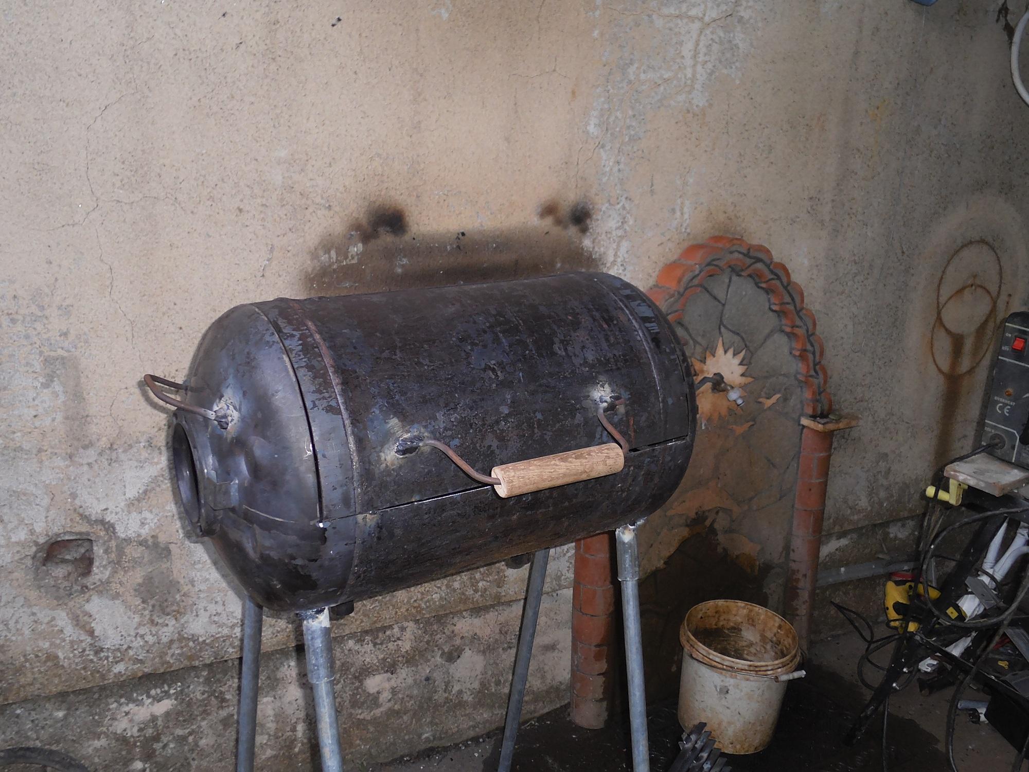Мангал с плитой из кирпича своими 8